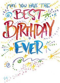 Birthday Sparkles and Stars Birthday Card