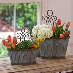 Morningside Nesting Planters from Willow House.great organizers, too Living Willow, Willow House, Herb Garden Planter, Planter Pots, New Paint Colors, Southern Living Homes, Pergola Garden, Spring Bulbs, A Table