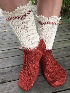 Ravelry: Hellunen pattern by Pirjo Iivonen Ravelry, Diy And Crafts, Slippers, Knitting, Lace, Medieval, Pattern, Cuffs, Fashion