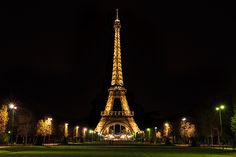 The Eiffel Tower taken from the Champ de Mars