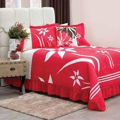 JUEGO DE COLCHA #FRESA Incluye: #Colcha, fundas #decorativas (I 1 M 2 y K 3), #cojín decorativo. Tela 50% #algodón 50% poliéster. Acabado #extrasuave. Colores extrafirmes. Lavable en #casa #decoración #Hogar #cama #recamara #habitación #intimahogar