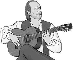 flamenco guitar ( guitarist : Paco de Lucia )