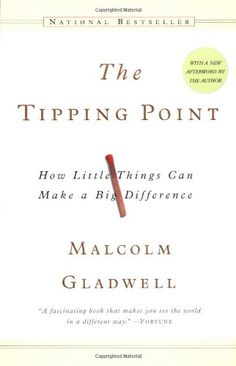 The Tipping Point: How Little Things Can Make a Big Difference: Malcolm Gladwell. I am not a fan of Malcolm Gladwell, but this books is a must read for anyone involved in marketing and communications. This Is A Book, The Book, Reading Lists, Book Lists, Reading Books, Reading 2014, Books To Read, My Books, The Tipping Point