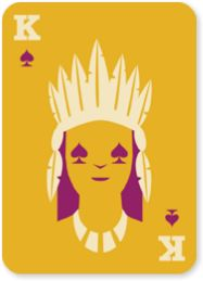 NATIVE CARDS indian graphic design modern typography clean illustration playing cards king poker native american