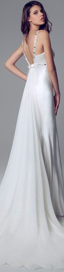 Blumarine Bridal 2014 Wedding dresses #bride #back #dress- Become a VIB today for more great wedding resources and deals from our VIB Vendors