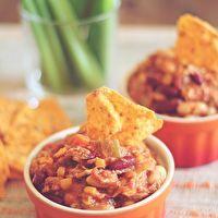 healthy Buffalo Chicken Chili by ERIN WRIGHT