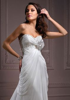 Modern Sheath/column Empire Court Train Flowers Wedding Dress  Our Price: $274.69