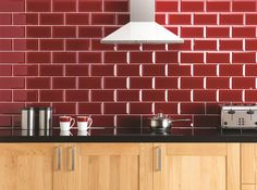 Ebro Clear Bevel Glass in Red - Original Style Glass Tile