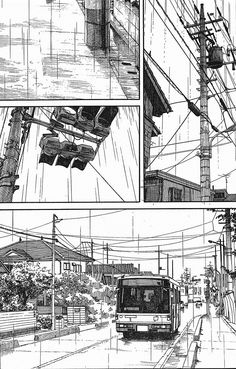 51 Page 1 - Everything About Manga Perspective Drawing Lessons, Perspective Art, Manga Drawing, Manga Art, Manga Anime, Manga Illustration, Digital Illustration, Cityscape Drawing, City Drawing