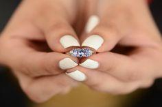 Visit Shop LC to shop eye-catching Tanzanite jewelry! Tanzanite Jewelry, Tanzanite Ring, Heart Ring, Eye, Diamond, Rings, Shopping, Ring, Heart Rings