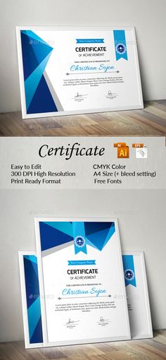 Certificate Certificate templates and Stationery design - Corporate Certificate Template