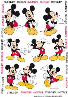 Lamina de mickey mouse para imprimir