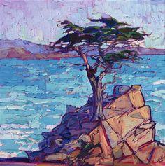 Monterey coast landscape painting by Impressionist artist Erin Hanson