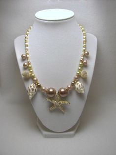 Golden Seascape - Jewelry creation by Linda Foust