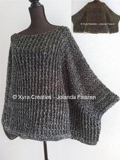 #PATR1120 #wide #wijd #sweater #shirt #trui #poncho #swoncho #straight #recht #poncho #haakpatroon #patroon #haken #gehaakt #crochet #pattern #DIY Patroon (NL) is beschikbaar via: Pattern (English-US) is available at: www.xyracreaties.nl www.ravelry.com/stores/xyra-creaties www.etsy.com/shop/XyraCreaties