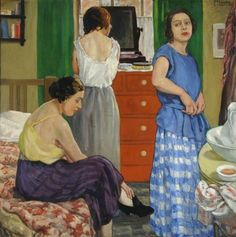 Girls dressing  -  Mabel Frances Layng  ca,1920