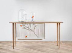 法國室內設計師Grégroire de Laforrest 將桌子與鳥籠結合設計