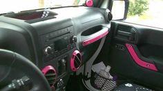 New jeep wrangler interior pink