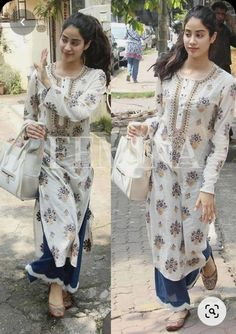 Casual Indian Fashion, Indian Fashion Dresses, Indian Outfits, Pakistani Dresses, Ethnic Fashion, Fashion Outfits, Simple Kurti Designs, Kurta Designs Women, Salwar Designs