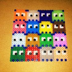 Pac Man Ghosts perler beads by shineyee427