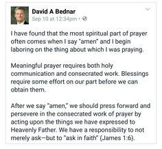 The most spiritual part of prayer...