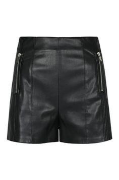 Schwarze High-Waist Shorts