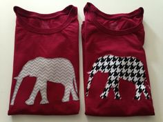 Women's Red Shirt with Alabama Elephant in Gray by ChubbyFeets, $15.00