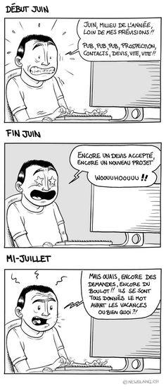 Comic : Semestre... au boulot ! - New Slang It Works, Comics, Memes, Balance Sheet, Middle, Comic Book, Comic Books, Nailed It, Comic