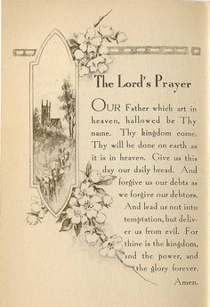 """~ """"The Lord's Prayer"""" ~"""