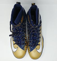 Nike Force Lunarbeast Elite TD Football Cleats Sz 16 Blue Bronze White LA  Rams  Nike 72430db28