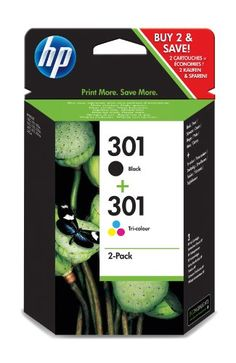 HP Combo Pack Cartridges -Black/Tri Colour 301 -  Highlights:  ·The saving package for many printers ·Contains 1 cartridge (301) black + 1 cartridge (301) Color   Technical Specifications: Content: 1 Set · Ink/toner colour: Black, Cyan, Magenta, Yellow · Ink/toner type: Original · Manufacturer part no.: CR340EE · Refill type: Ink cartridge · Sh... - http://ink-cartridges-ireland.com/hp-combo-pack-cartridges-blacktri-colour-301/ - -Black/Tri, 301, Cartridges, Colour, Co