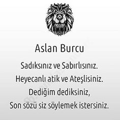 #aslan #aslanburcu #aslanburcukadını #aslanburcuerkegi #aslanım #burç #burclar #burcumaslan #instalike #instagood #takip #begeni #follow #like4like #followme My Horoscope, Leo, Zodiac, Thats Not My, My Love, Memes, Face, Funny, Instagram Posts
