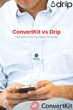 Convertkit vs Drip - Find out the features, pricing and pros, and cons of the ConvertKit and Drip Email marketing platforms. Find out which is best for you. Email Marketing Software, Digital Marketing, Best Email, Growing Your Business, Platforms, How To Find Out, Tools, Instruments, Utensils