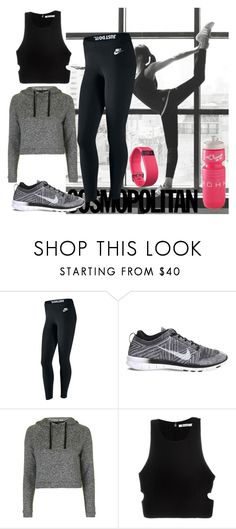 """Sport leggings"" by salstan ❤ liked on Polyvore featuring adidas, NIKE, Topshop, T By Alexander Wang, Fitbit, Leggings and WardrobeStaples"