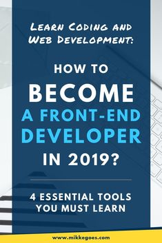What tools do you need to learn to become a Front End Developer in Find out which programming languages and web development tools you should learn to start a career in web design. Find the best learning resources and online courses for beginner Design Websites, Website Design Services, Web Design Tips, Web Design Tutorials, Web Design Company, Web Design Inspiration, Design Ideas, Learn Programming, Programming Languages