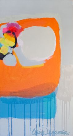 """""""Stitch in Time"""" by Claire Desjardins - 16""""x30"""" - Acrylics on canvas."""