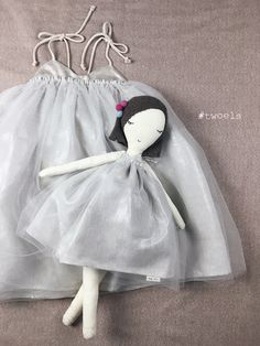 Fairy Dance Tutu Dress by Two Ele & a collaboration holiday doll by Two Els & Snuggly ugly.