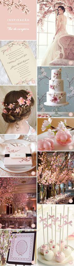 10 ideias para festa de 15 anos inspirada na flor de cerejeira . Diy Wedding, Wedding Favors, Dream Wedding, Wedding Decorations, Wedding Day, Cherry Blossom Fiesta, Romantic Wedding Colors, Sweet Fifteen, Bridal Shower