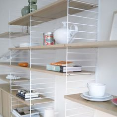 String shelving system by Nils Strinning 'Modern since 1949'.
