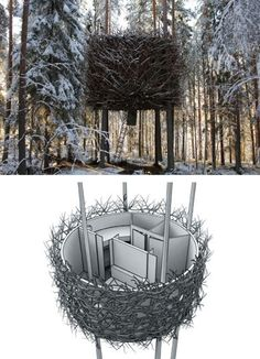 Birds Nest Tree House By Renée Finberg ' TELLS ALL ' in her blog of her Adventures in Design