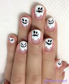ghost nails for halloween