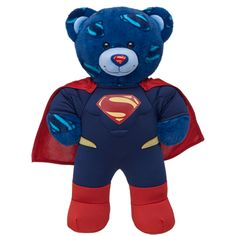 Superman Bears Now Available at Build-A-Bear Workshop! Get Free Delivery Offer Plus Adorable Superman Bears Now Available at Build-A-Bear Workshop! Custom Teddy Bear, Superman Costumes, Building For Kids, Cute Teddy Bears, Build A Bear, Ty Beanie, Smurfs, Workshop, Plush