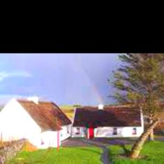 Tully Cross, Ireland, Galway county, Aquinas College Student cottages. Number 9 on the right was my home for 4 months.