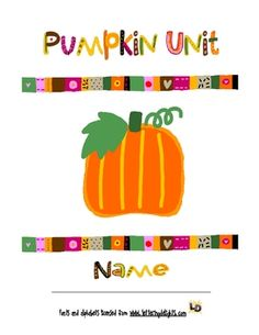 Who wouldn't want to learn with pumpkins