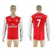 Arsenal 16-17 Alexis Sanchez 7 Hjemmebanetrøje Lange ærmer