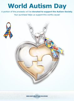 Champion your hero with this autism support personalized pendant necklace.