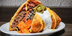 Behold This Deep-Fried Supreme Nacho Burger