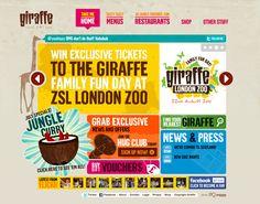 Colourful website design.
