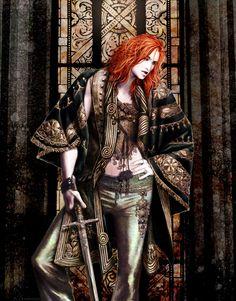 Damian by *fuchsiart on deviantART. L.K. Hamilton's 'Anita Blake' vampire hunter series.