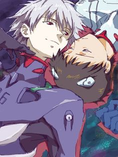 Kaworu and Shinji ||| Neon Genesis Evangelion Fan Art